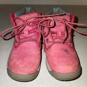 Timberland Boot Toddler Girls Pink Nubuck Leather